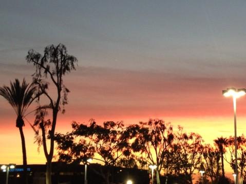 Coucher de soleil au-dessus de Pasadena